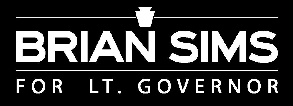 Brian Sims for Lt. Governor logo